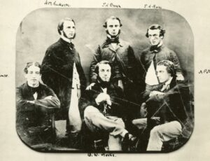 Six Victorian men pose for the camera.